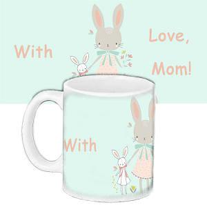 Кружка подарок с принтом С любовью маме