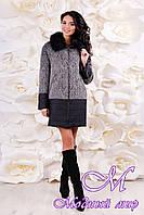 Женское зимнее пальто с мехом (р. 44-56) арт. 1059 Тон 102