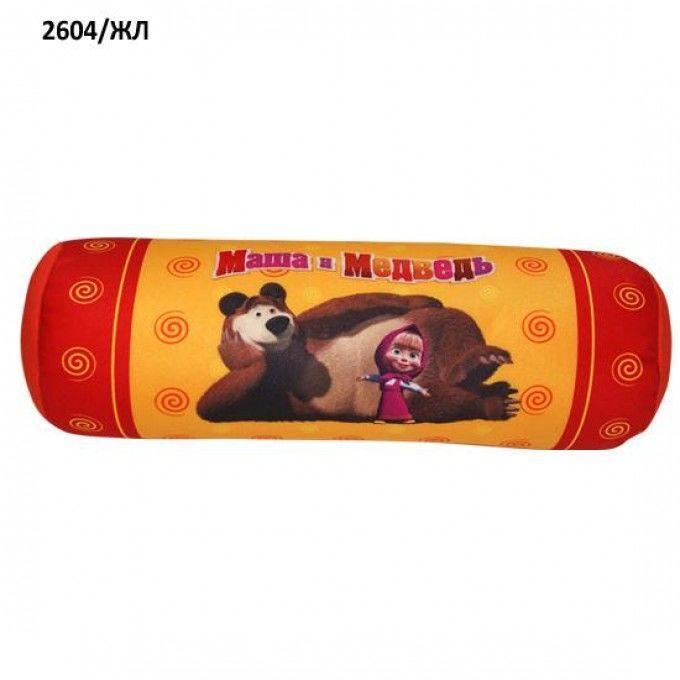 Мягкая подушка Маша и Медведь 32 см (2604/ЖЛ) Желтая