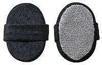 Мочалка банная, массажная овальная черная TITANIA 7721