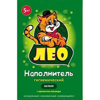 Бентонитовый наполнитель Leo №3 мелкий (0,25-1,5мм) с ароматом лаванды 5 кг