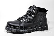 Зимние ботинки в стиле Caterpillar Winter, кожаные (Black), фото 2
