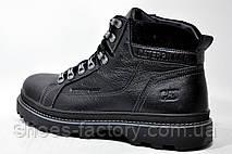 Зимние ботинки в стиле Caterpillar Winter, кожаные (Black), фото 3