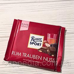 Ritter sport Rum Trauben Nuss с ромом, изюмом и орехом