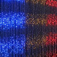 Светодиодная Гирлянда Водопад Новогодняя 480 LED 3 х 3 м Синий и Белый Цвета