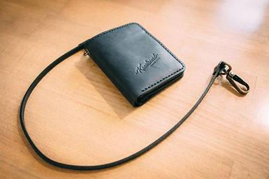 Мужское кожаное портмоне ручной работы Knockwood - Brixton, Black