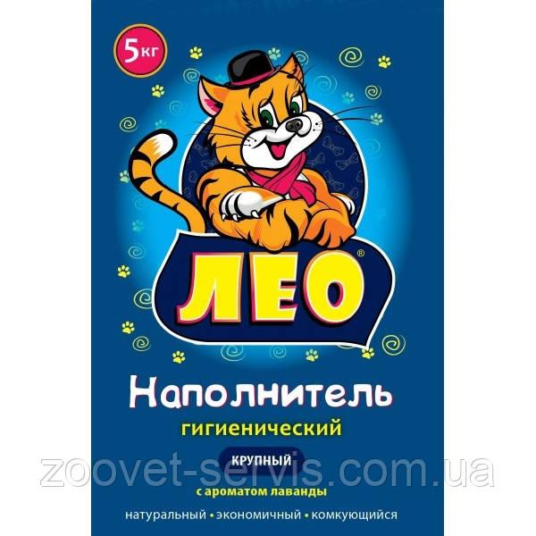 Наполнитель бентонитовый Leo №1 крупный (2,5-6,0мм) с ароматом лаванды 5 кг