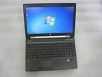 15,6' ноутбук HP EliteBook WorkStation 8570w i7 Quad 2.4G 8G 500GB nVidia K1000M( 2G) web-cam HD+ АКБ 2ч#928
