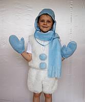 Детский карнавальный костюм для мальчика «снеговик»