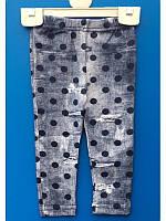 Теплые лосины на байке под джинс для девочек 1-6 лет