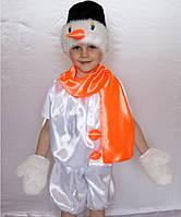 Детский карнавальный костюм для мальчика «СНЕГОВИК 2»