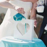 """Рамка-Сосуд """"Сердце"""" для свадебной песочной церемонии (арт. SCF)"""