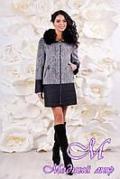 Женское шерстяное зимнее пальто больших размеров (р. 44-56) арт. 1059 Тон 100