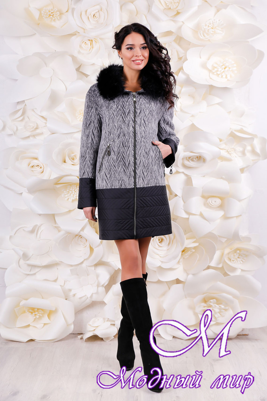 41f90bb21346c9 Женское шерстяное зимнее пальто больших размеров (р. 44-56) арт. 1059