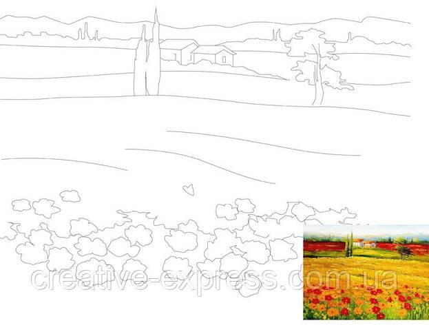 Полотно на картоні з контуром, Пейзаж №10, 30*40, бавовна, акрил, ROSA Talent, фото 2