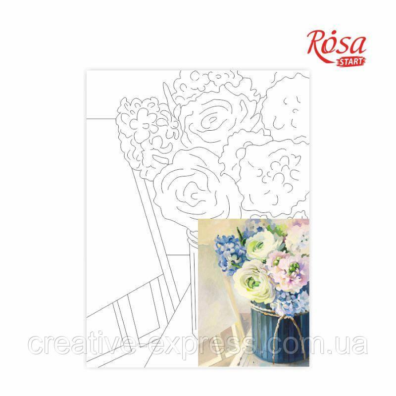 Полотно на картоні з контуром, Натюрморт №26, 30*40, бавовна, акрил, ROSA Talent