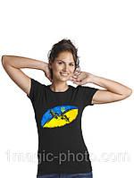 Футболка патріотична Український прапор і калина червона