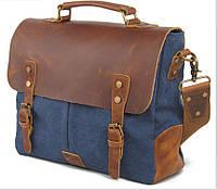 Мужская сумка Canvas наплечная синяя