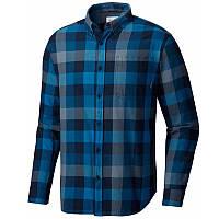 Мужская рубашка Коламбия OUT AND BACK™ II LONG SLEEVE SHIRT синяя в клетку AM8022 464