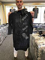 Платья с капюшоном из вареного хлопка с серебром