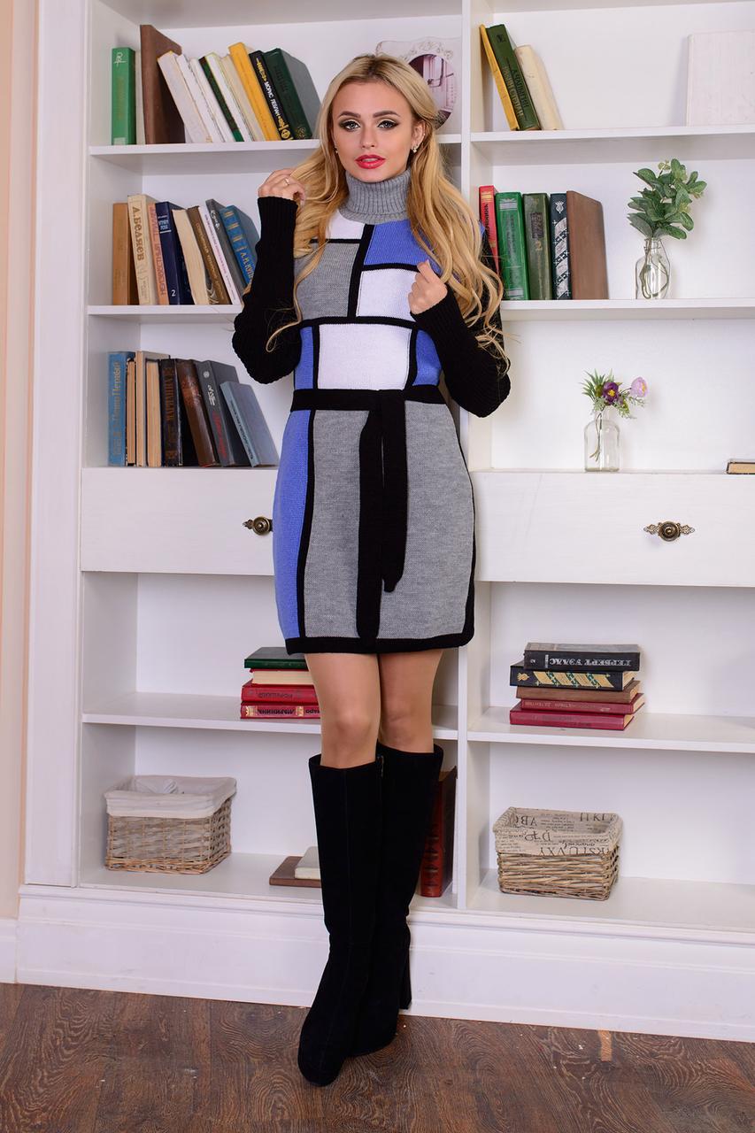 Женское вязаное платье, р.42-48