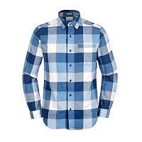 Мужская фланелевая рубашка Коламбия BULDER RIDGE™ LONG SLEEVE FLANNEL синяя в клетку AJ0017 411