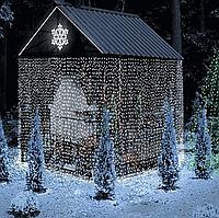 Уличная Светодиодная Гирлянда Штора Новогодняя Занавеска 240 LED 3 х 2 м Белый Цвет