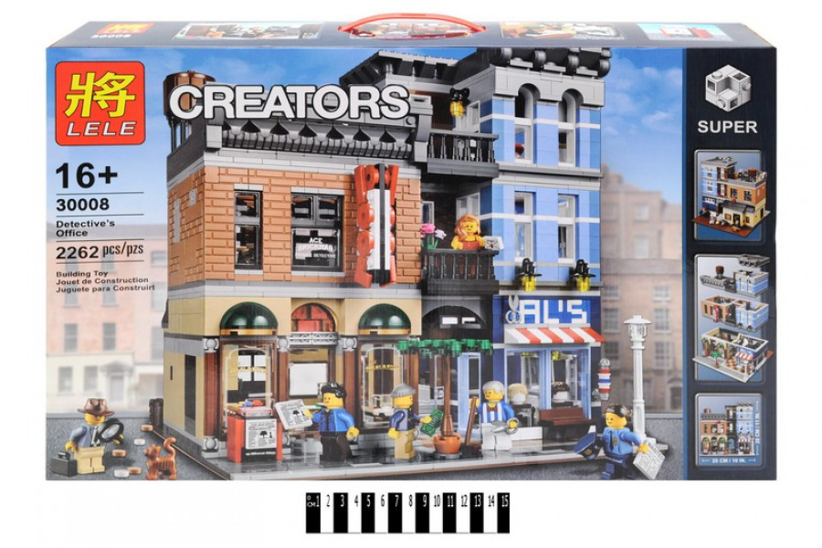 Конструктор Lele 30008 Creator Офис детектива (аналог LEGO Creator 10246) 2262 дет.