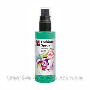 Фарба-спрей для тканин, Зелене яблуко, 100 мл, Marabu