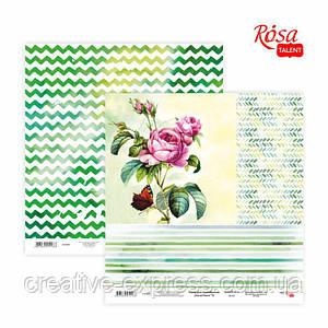"Папір для скрапбукінгу ""Floral Poem"" 15, двосторонній, 30,48х30,48см, 200г/м2, ROSA TALENT"