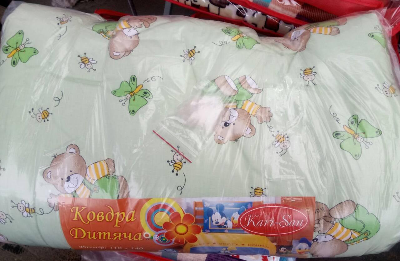 Красивое детское теплое одеяло на овчине