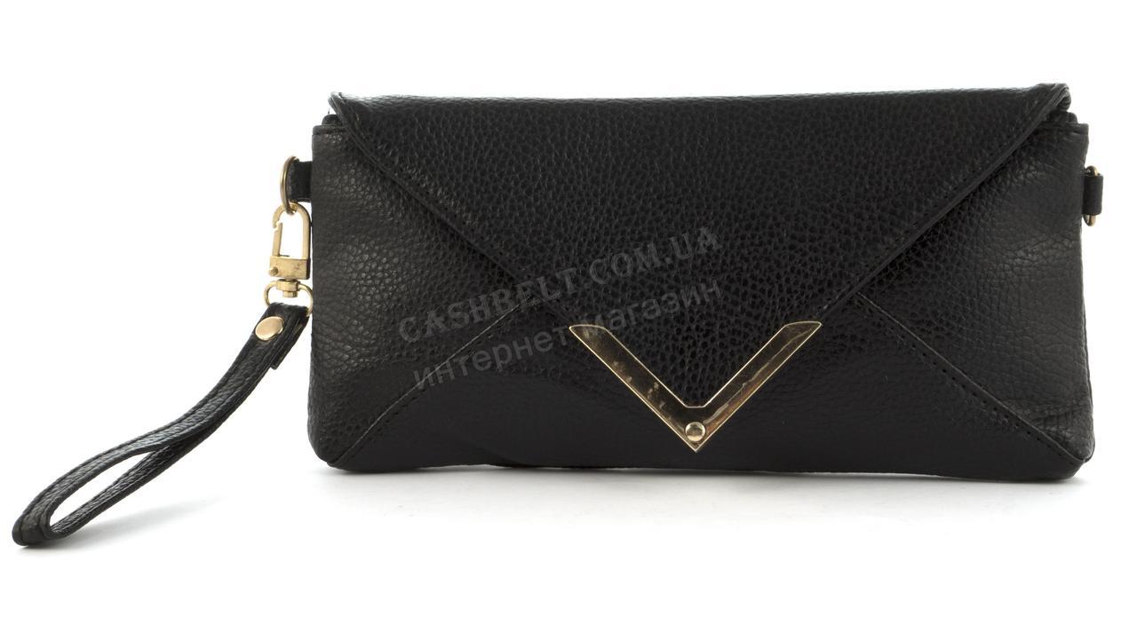 82f9a26988bf Небольшая сумочка клатч с ремешком на руку и плечевым ремнем черного цвета  уголок - Ремешок и