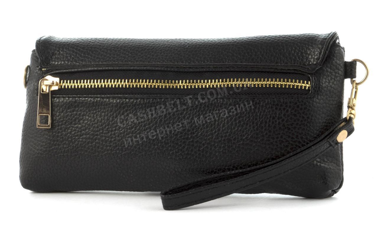 fb72ec4d491a ... Небольшая сумочка клатч с ремешком на руку и плечевым ремнем черного  цвета уголок, ...