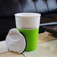 Керамическая чашка с крышкой и съемным чехлом VIA. Starbucks.