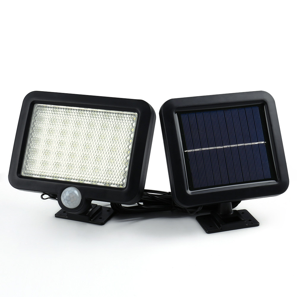 Вуличний світлодіодний світильник на сонячній батареї з датчиком руху 56 LED