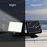 Уличный светодиодный светильник на солнечной батарее  с датчиком движения 56 LED, фото 2