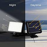 Вуличний світлодіодний світильник на сонячній батареї з датчиком руху 56 LED, фото 2
