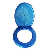 Круг с крышкой на унитаз (синий перламутр)