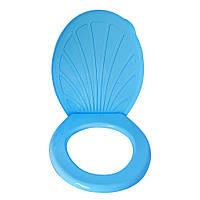 Круг с крышкой на унитаз (голубой)