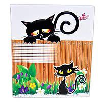 Тетрадь общая 96листов в клетку, серия Черная кошка