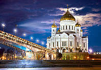 """Пазлы 1500 элементов Castorland """"Cathedral of Christ the Saviour, Russia"""""""