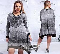 Платье полосатое трикотаж 48-50,52-54,56