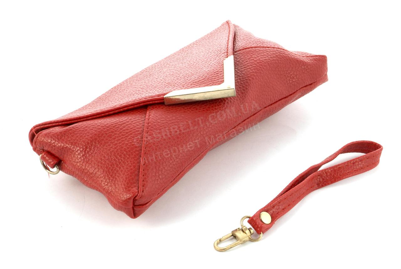 e7a8d08543a7 ... Небольшая сумочка клатч с ремешком на руку и плечевым ремнем красного  цвета уголок, ...