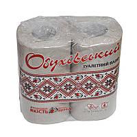 """Туалетная бумага """"Обухівський туалетний папір"""" серая 4рулона на гильзе"""