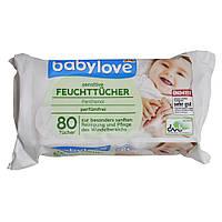 Салфетки влажные Babylove DM pantenol 80 шт.