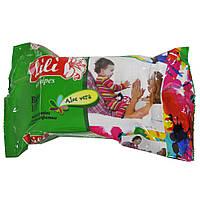 Салфетки влажные LiLi для детей с экстрактом алоэ вера 100шт.