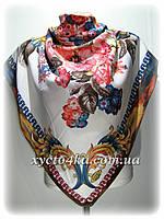 Кашемировый платок Фантазия, белый
