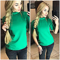 Женская футболка гольф,ЗЕЛЕНЫЙ