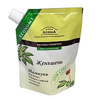 Шампунь для волос жирных у корней Зелёная аптека (женьшень) 200мл
