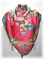 Кашемировый платок Фантазия, кораловый
